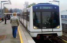 Veitvet T-bane med linje 5